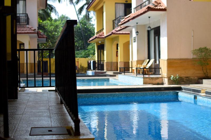 Pool of the 3 BR villa at Calangute