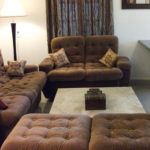 Living area of the Parra villa for rent rent close to Baga and Calangute
