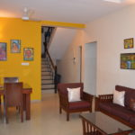 View of living area of the 3 BR villa for rent at Aprora