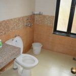 Washroom of the 3 BR villa for rent at Calangute