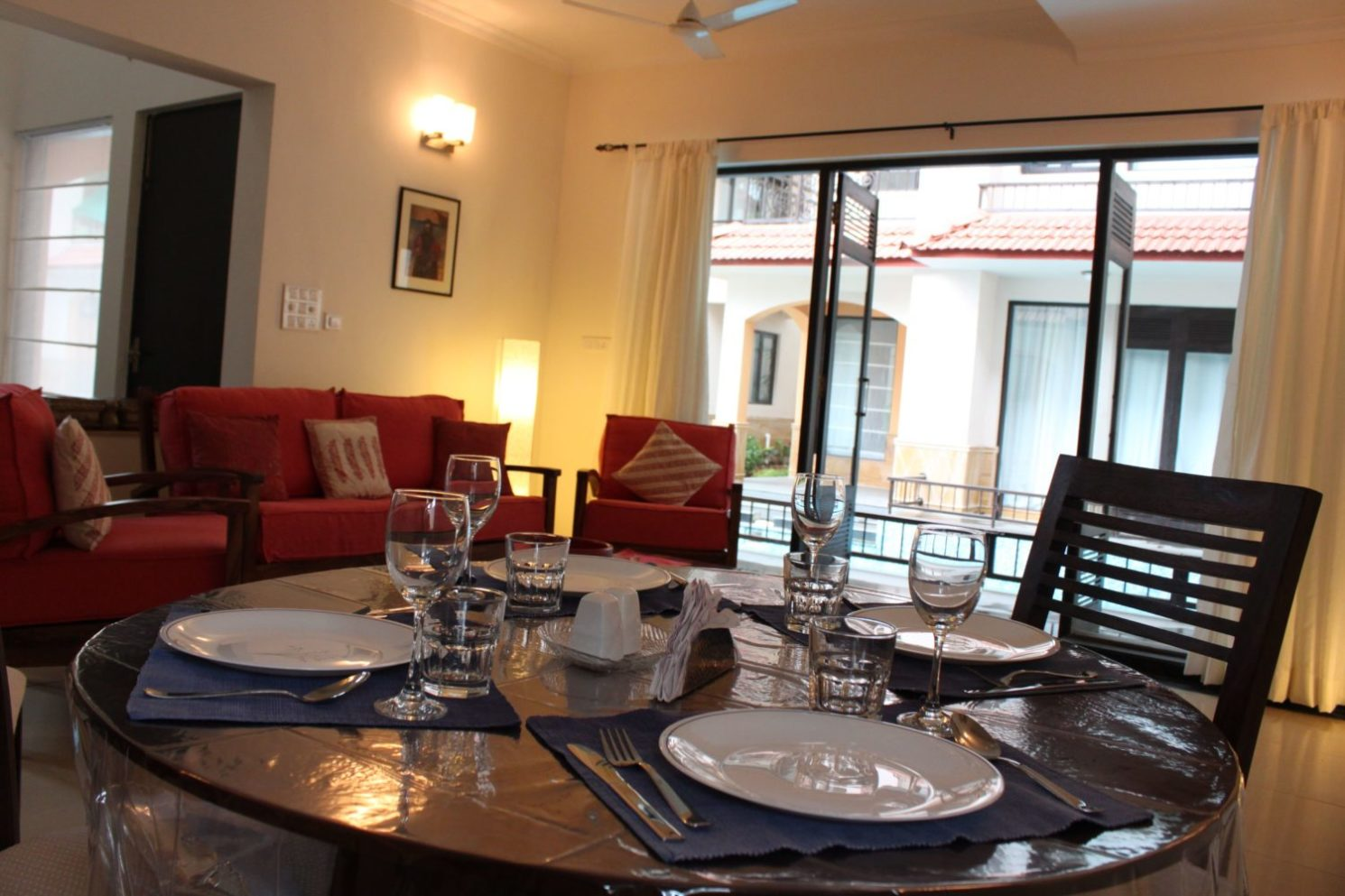 Living Area of the 3 BR Villa at Calangute