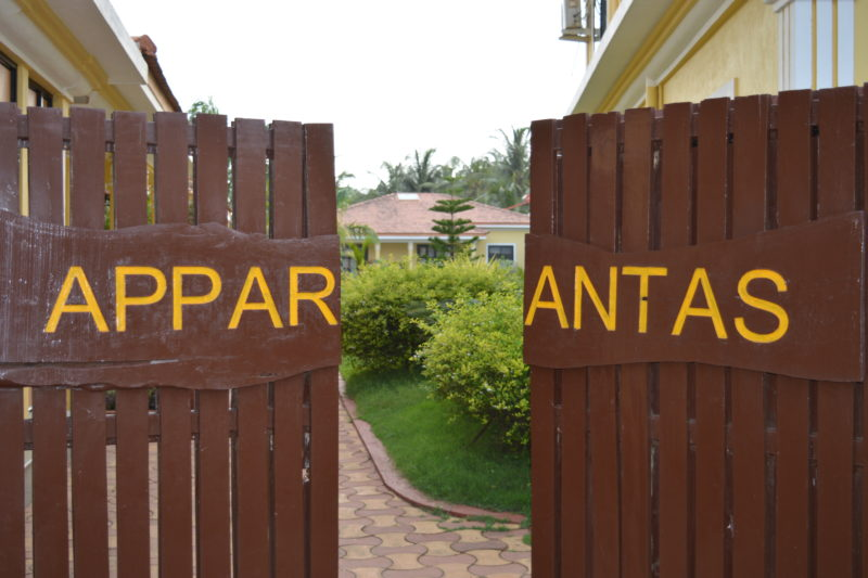 Entrance of Villas for rent at Vagator
