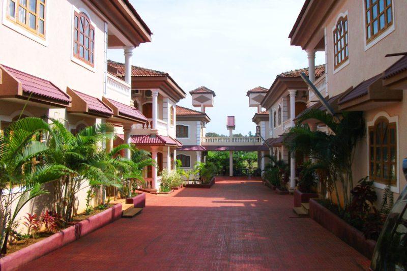 Entrance of Villa for rent near Baga