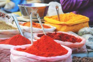 Goan spices at Mapuca market in Goa