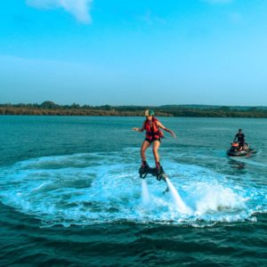 Water Sports in Goa -Fly Boarding in Goa Pic Credit Goa Travel Activities